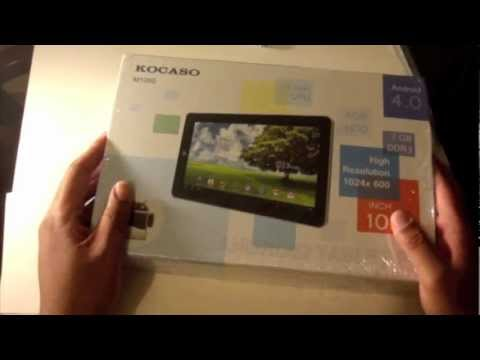Kocaso M1050 Google Android 4.0 4GB Unboxing Review