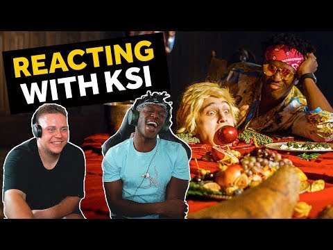 KSI REACTS TO ON POINT REACTION VIDEOS (LOGAN PAUL DISS TRACK) (видео)