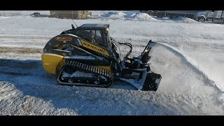 8. Demo presentation of New Holland C238 with MK Martin SSB86 snow blower attachment. Canada