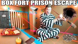 24 HOUR MAXIMUM SECURITY BOX FORT PRISON ESCAPE!! 📦🚔