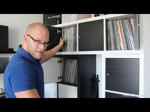 Schallplattenaufbewahrung im Kallax Regal