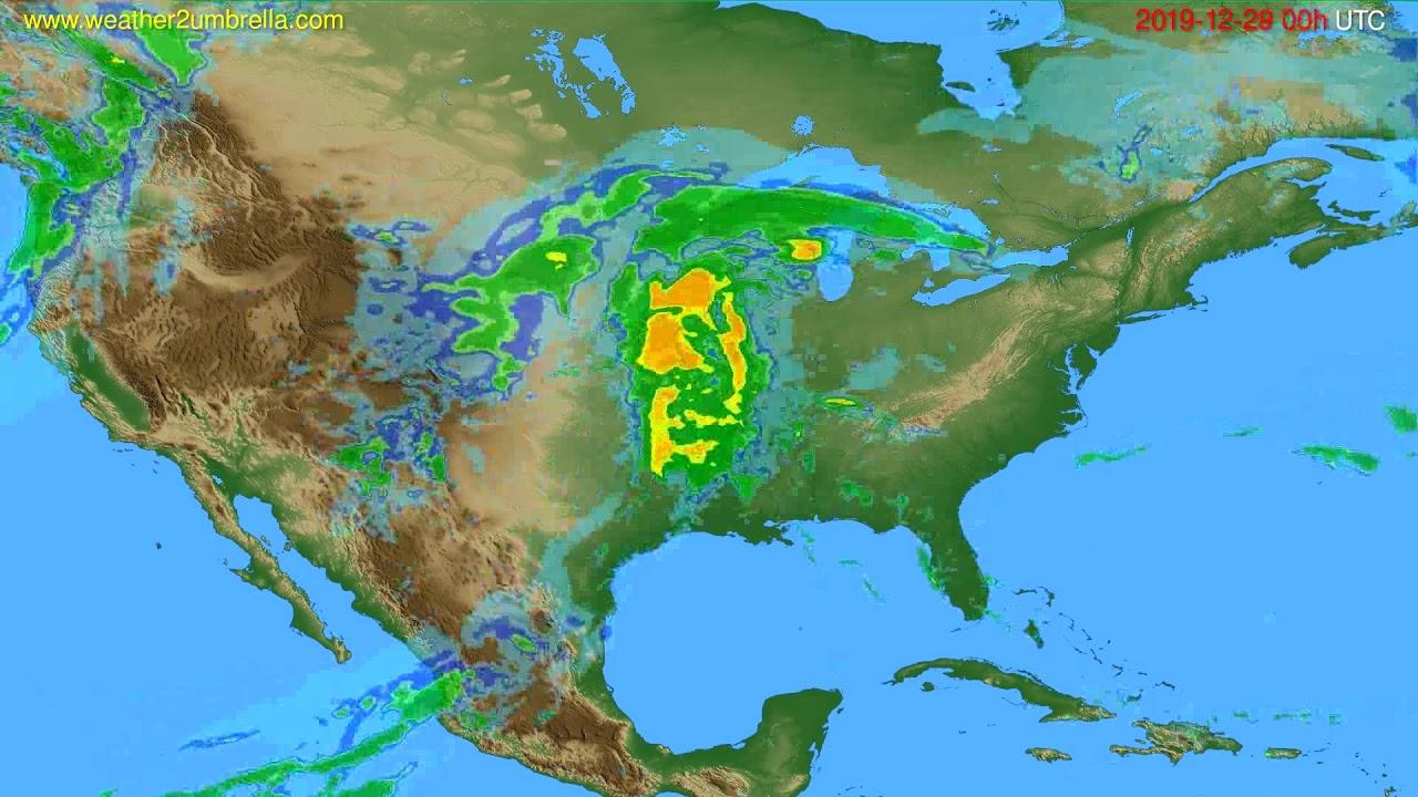 Radar forecast USA & Canada // modelrun: 12h UTC 2019-12-28