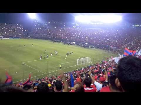 Gol de Cecilio Dominguez vs Atletico Nacional desde Norte - La Plaza y Comando - Cerro Porteño