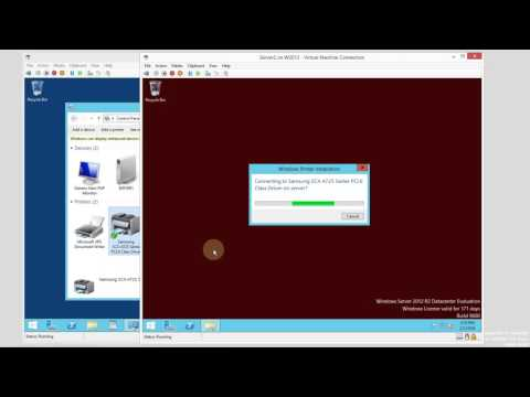 Sharing Network Printers in Windows 2012 R2