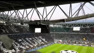 The champions league anthem in the second leg between Juve and Monaco