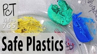 """Some types of plastics will react badly when coming into contact with polymer clay, while others will be just fine. But how can you tell which is which? In this video I will whow you how to know for sure, even if their are no identifying reference numbers on the plastic containers you are wondering about. You'll have to do a small test, but this important step will save you a whole lot of grief in the long run.For more info and related resources about polymer compaticle plastics, please visit our PcT blog (Video #765)... http://www.beadsandbeading.com/blog/?p=20507Polymer Clay Tutor, Cindy Lietz & Doug Lietz""""Love What You make... Make what You make."""""""