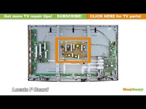 NO POWER TV REPAIR Panasonic N0AB5JK00001 Plasma TV Repair Tips: P Boards / Power Supply Unit Boards