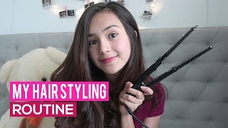 Video Beby Tsabina - My Hair Styling Routine MP3, 3GP, MP4, WEBM, AVI, FLV September 2017