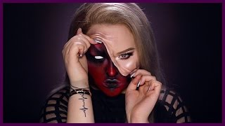 DEMON - Pulled Up Skin Halloween Makeup Tutorial