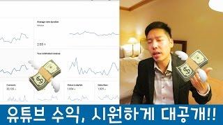 유튜브 수익 시원하게 공개!!