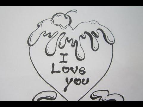 I Love You In Graffiti Letters Draw