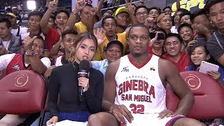 Justin Brownlee was named Best Player of the TNT vs. Ginebra game. Check out more of Sports5! Website: http://www.Sports5.ph...