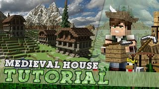 Minecraft Tutorial: How to Build A Simple Medieval House!