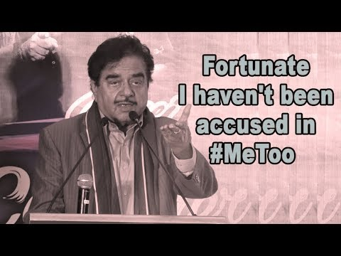 Shocking Yet FUNNY Speech by Shatrughan Sinha On #MeTooControversy