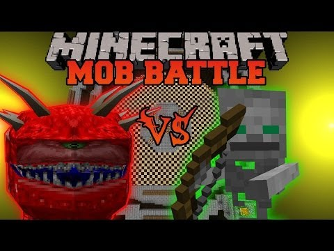 Cacodemon Vs. Skeleton Friend - Minecraft Mob Battles - Lycanite's Mobs Mod Battle