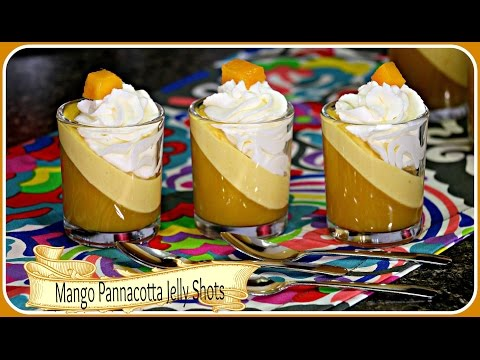 Mango Pannacotta Jelly Shots