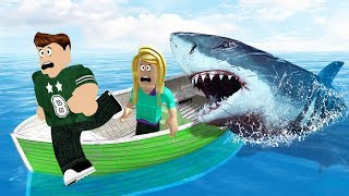 FLEE FROM THE ANGRY SHARK! (Roblox)