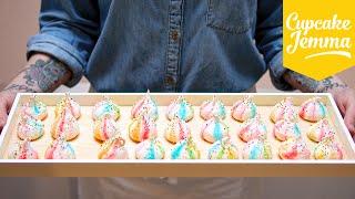 Video Circus Rainbow Marshmallow Meringues Recipe | Cupcake Jemma MP3, 3GP, MP4, WEBM, AVI, FLV Desember 2018