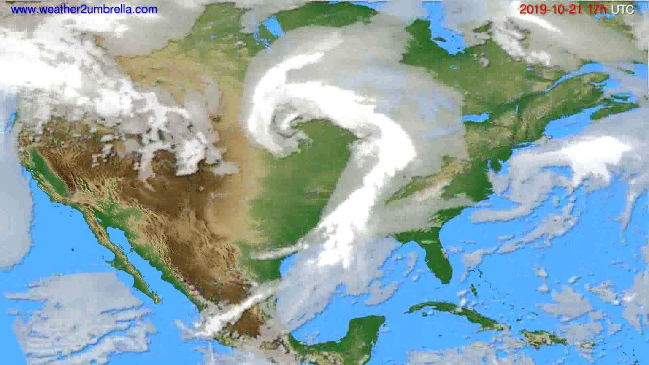 Cloud forecast USA & Canada // modelrun: 12h UTC 2019-10-20