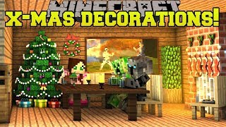 Minecraft: CHRISTMAS DECORATIONS! (CHRISTMAS SONGS, LIGHTS, WREATHS, & MORE!) Mod Showcase