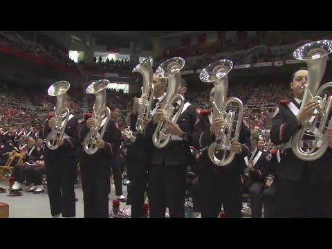 Ohio State Marching Band performs in Skull Session before Maryland game BUCKEYES