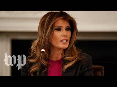 Melania Trump says critics won't stop her from tackling cyberbullying