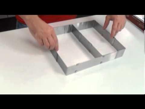 Видео Формочки для печенья из металла  Регулируемая форма для торта прямоугольная DELICIA Tescoma 623382