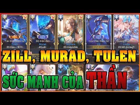TRận đấu Đặc Biệt: Zill Cựu Thần, Tulen Tân Thần và Murad Đồ Thần cùng TEAM - Cách chơi Zill Solo - Thời lượng: 11 phút.