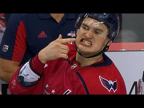 Video: Capitals' Dmitry Orlov has tooth broken by high stick from Blackhawk's Hartman