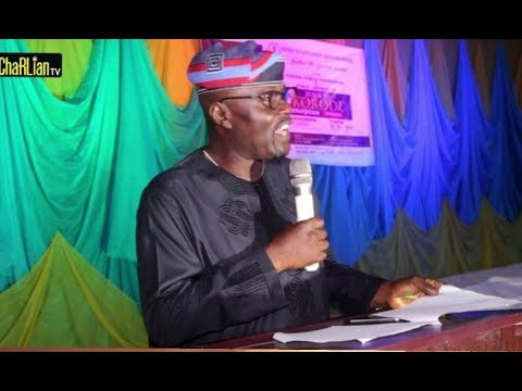 Otunba Ganiyu Abiru (Chairman,IKODASS ) Speech During Ikorodu MartketPlace Directory (ChaRLian TV)