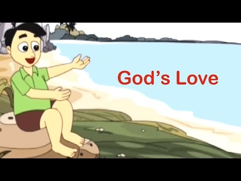 God's Love Is So Wonderful Nursery Rhyme - Animated Songs For Children