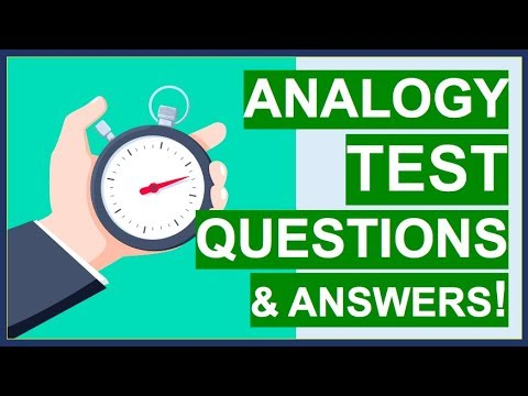 ANALOGY TEST Questions, Tips, Tricks and ANSWERS! (How To PASS Word Analogy Tests)