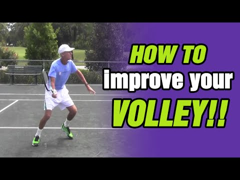 Tennis Lessons – How To Improve Your Volley with TomAveryTennis.com