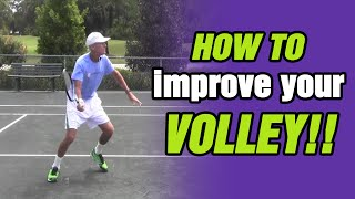 Tennis Highlights, Video - Tennis Lessons - How To Improve Your Volley with TomAveryTennis.com