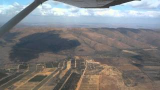 Rustenburg South Africa  city photo : Flying in a Cessna 172 from Rustenburg to Lanseria near Johannesburg, South Africa