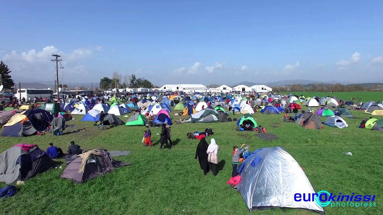 Σε απέραντο προσφυγικό καταυλισμό έχει μετατραπεί η Ειδομένη