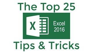 Video Top 25 Excel 2016 Tips and Tricks MP3, 3GP, MP4, WEBM, AVI, FLV September 2019
