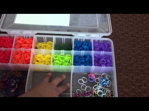 Rubber Band Cases & Rainbow Loom Storage Bin