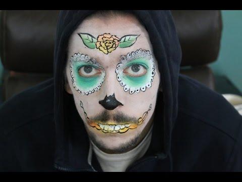 Prayer In C Music Video – Full Face Sugar Skull Face Paint Tutorial