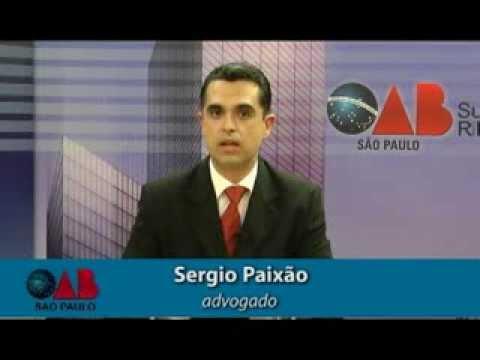 OAB na TV Online – nº 07 – 12ª Subseção OAB/SP – Entrevistado:  Sergio Paixão sobre erro médico