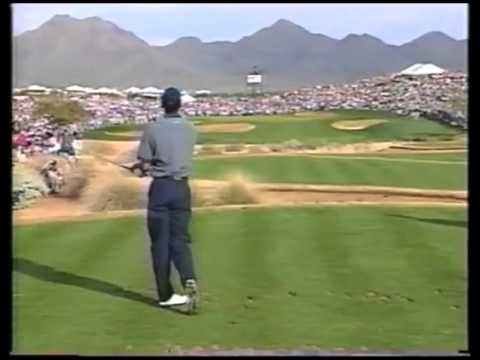 Tiger Woods Hole in One on the 16th at the  Phoenix Open