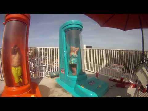 OLD LADY flushed on scary slide at Sunsplash, GoPro experience in HD!