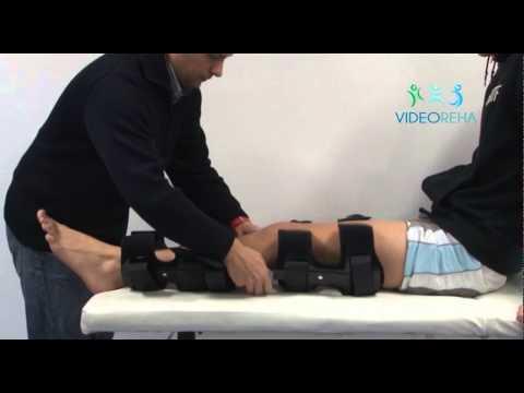 How to adjust and put on a knee brace