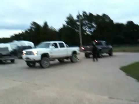 A Duramax and Powerstroke go head-to-head