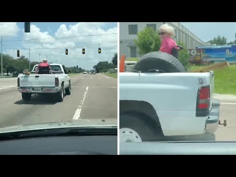 Video Grandma Rides In Back Of Pick-up Truck On Wheelchair download in MP3, 3GP, MP4, WEBM, AVI, FLV January 2017