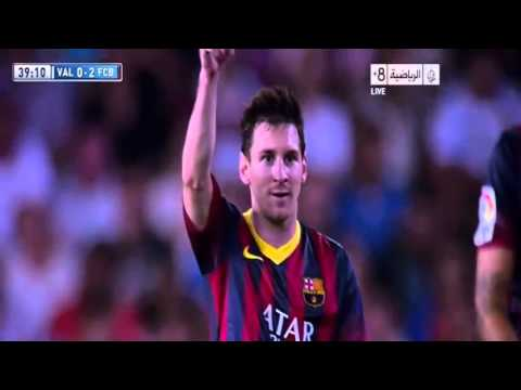 Valencia Vs Barcelona 2-3 2013 Goals & Highlights (1/9/2013) HD (видео)