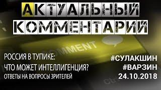 Актуальный комментарий 24.10.2018 #Сулакшин #Варзин