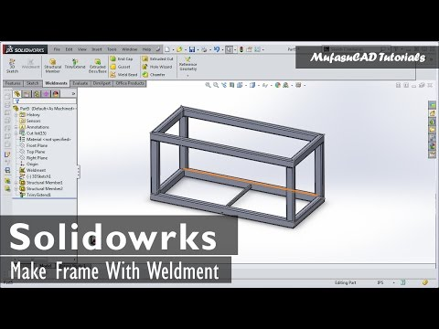 SolidWorks Weldments 101 - Simple Table | movivu.com