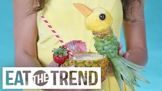 This Insane Pineapple-Carving Trick Will Make Your Jaw Drop | Eat the Trend by POPSUGAR Food