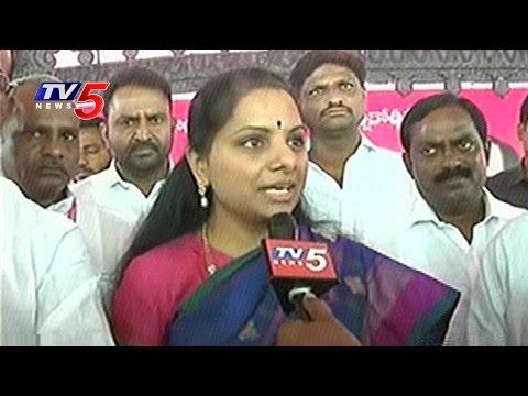 MP Kavitha Face To Face | TRS Pragati Nivedana Sabha in Warangal